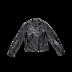 Giacca ecopelle corta nera, Abbigliamento, 126577302EPNEROL, 001 preview