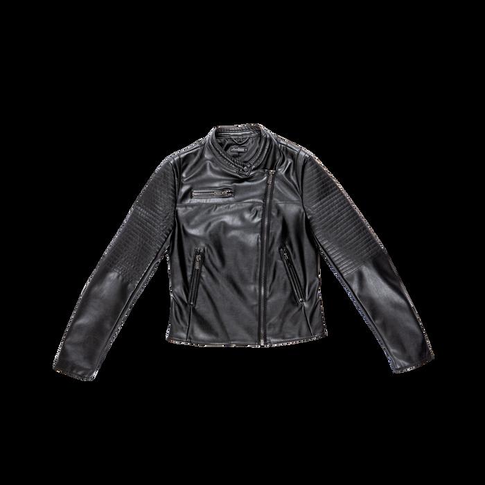 Giacca ecopelle corta nera, Abbigliamento, 126577302EPNEROL