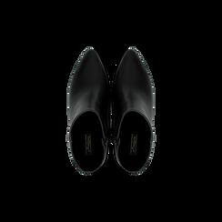 Tronchetti neri, tacco medio 5 cm, Scarpe, 122707332EPNERO, 004 preview