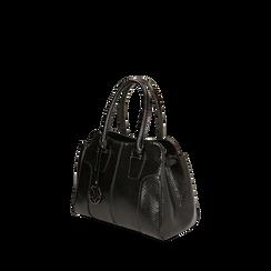 Sac à main noir imprimé vipère, Primadonna, 165702675EVNEROUNI, 002a
