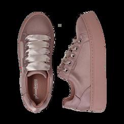 Sneakers nude in tessuto, suola 4 cm  , Scarpe, 142509512TSNUDE035, 003 preview