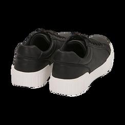 Baskets noir en simili-cuir, Chaussures, 150620171EPNERO037, 004 preview