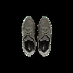Sneakers grigie con zeppa platform, Scarpe, 122808661MFGRIG, 004 preview