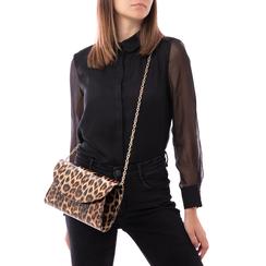 Pochette leopard in vernice, Borse, 145122502VELEOPUNI, 002a