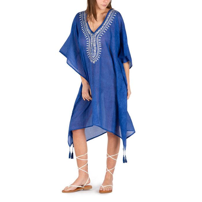 Caftan en tissu bleu, Primadonna, 150500006TSBLUEUNI