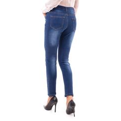 Jeans blu skinny effetto délavé, Primadonna, 14B411012TSBLUE3XL, 002a