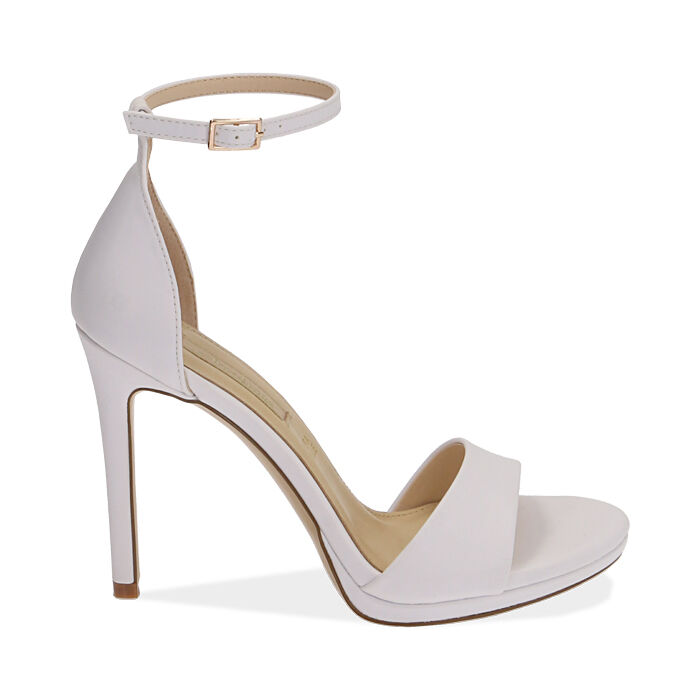 Sandali bianchi, tacco 11,5 cm, Primadonna, 172133410EPBIAN036