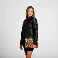 Pochette bustina leopard in microfibra con oblò dorati, Saldi, 123308604MFLEOPUNI, 004 preview