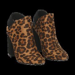 Mules leopard in microfibra, tacco 11 cm , Scarpe, 142186941MFLEOP035, 002 preview
