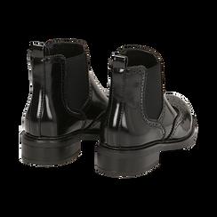 Chelsea boots neri in eco-pelle abrasivata, Stivaletti, 140618206ABNERO036, 004 preview