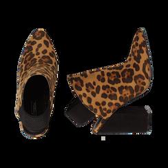 Mules leopard in microfibra, tacco 11 cm , Scarpe, 142186941MFLEOP035, 003 preview