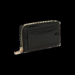 Portafoglio nero in ecopelle vernice con 10 vani, Borse, 125709023VENEROUNI, 003 preview