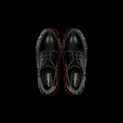 Francesine stringate nere con mini-borchie, Scarpe, 129309815EPNERO, 004 preview