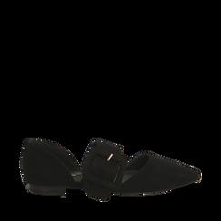Ballerine a punta nere in microfibra, Primadonna, 164936161MFNERO035, 001a