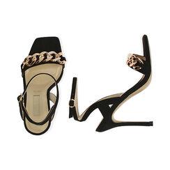 Sandales noires en microfibre, talon de 10,5 cm, Primadonna, 172114221MFNERO036, 003 preview