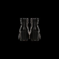 Tronchetti neri in vera pelle con tacco 5 cm, Primadonna, 127714166PENERO035, 003 preview