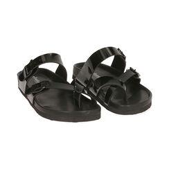 Chaussons en cuir verni noir, Primadonna, 177800023VENERO035, 002 preview