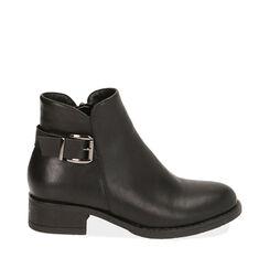 Ankle boots noirs, talon 4 cm , Primadonna, 180621683EPNERO035, 001a