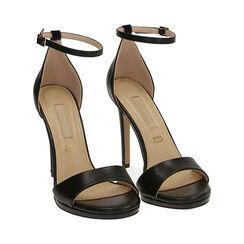 Sandali neri, tacco 11,5 cm, Primadonna, 172133410EPNERO036, 002 preview