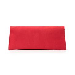 Pochette piatta rossa in microfibra, Borse, 145122509MFROSSUNI, 003 preview