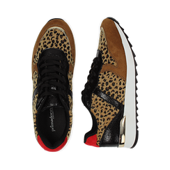 Sneakers leopard marroni in eco-cavallino, Scarpe, 142008377CVLEMA035, 003 preview