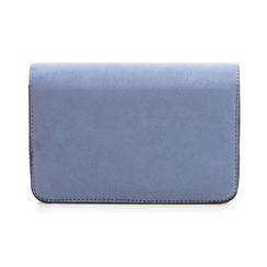 Borsetta azzurra in microfibra con chiusura effetto specchio, Borse, 135701124MFAZZUUNI, 003 preview
