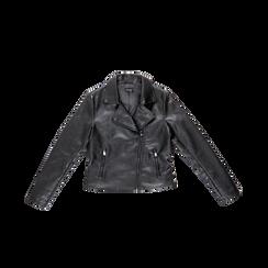 Chiodo nero ecopelle, Abbigliamento, 126500721EPNERO, 001 preview