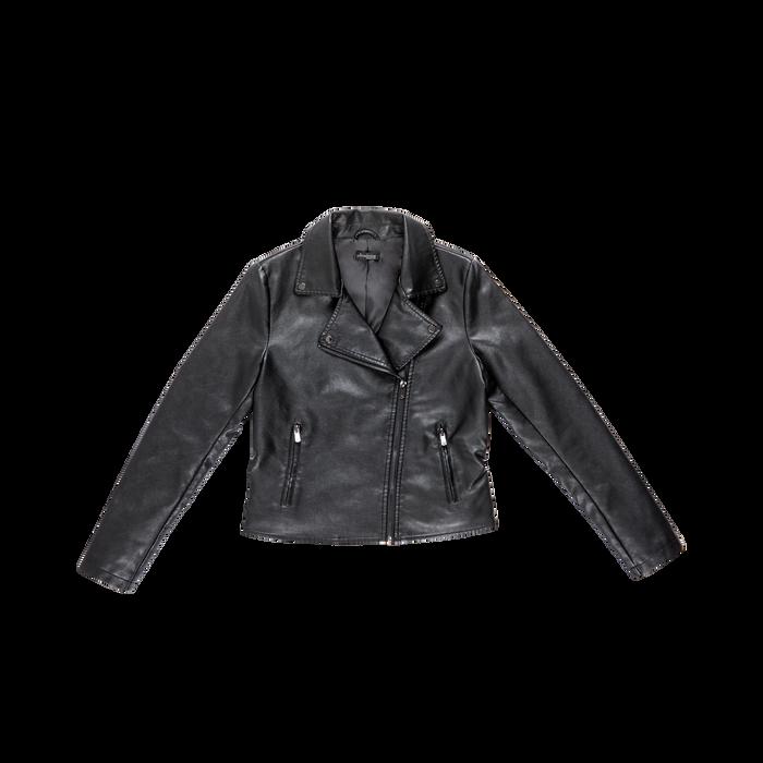 Chiodo nero ecopelle, Abbigliamento, 126500721EPNERO