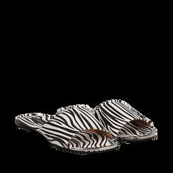 Mules flat zebrate in microfibra, Primadonna, 134989113MFZEBR035, 002a