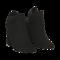 Mules nere in microfibra, tacco 11 cm , Scarpe, 142186941MFNERO036, 002 preview