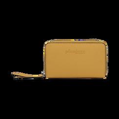 Portafoglio compatto giallo in eco-pelle, Borse, 133731344EPGIALUNI, 001 preview
