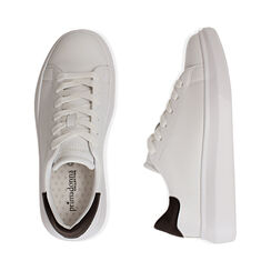 Baskets blanches / noires, Chaussures, 172602009EPBINE035, 003 preview