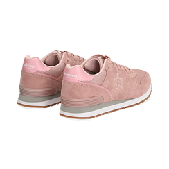Sneakers rosa in microfibra , Scarpe, 132619078MFROSA036, 004 preview