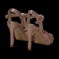 Sandalo rosa in laminato, tacco 10,50 cm, Sandali con tacco, 132127402LMROSA035, 004 preview