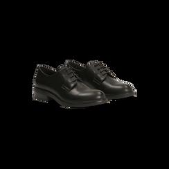 Francesine stringate nere, stile urban, Scarpe, 120618201EPNERO036, 002