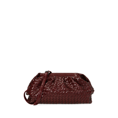 Maxi clutch bordeaux intrecciata, IDEE REGALO, 165122668EIBORDUNI, 001a