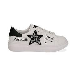 Sneaker bianche con stella, Primadonna, 172621010EPBIAN035, 001 preview