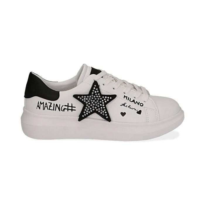Sneaker bianche con stella, Primadonna, 172621010EPBIAN035