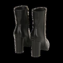 Ankle boots a punta neri, tacco 9,50 cm , Primadonna, 163026508EPNERO035, 003 preview