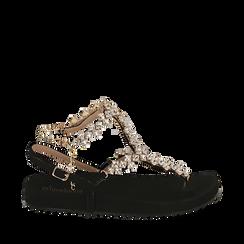 CALZATURA FLAT MICROFIBRA NERO, Chaussures, 154951992MFNERO036, 001a