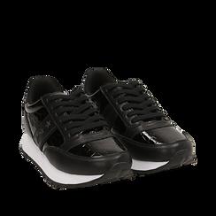 Zapatillas en charol color negro, Primadonna, 162619079VENERO036, 002a