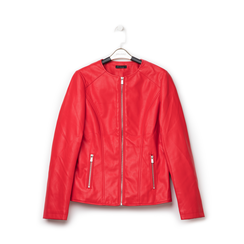 Giacca sfiancata rossa in eco-pelle , NEW IN, 136500777EPROSSL, 001a