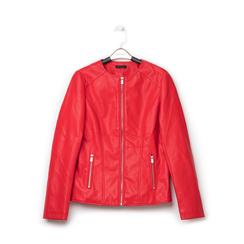 Giacca sfiancata rossa in eco-pelle , Primadonna, 136500777EPROSSL, 001a