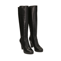 Stivali neri, tacco 9,50 cm , Primadonna, 160619077EPNERO035, 002a