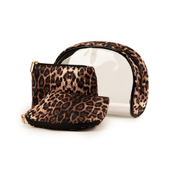 Trousse leopard print in pvc, Primadonna, 155122760PVLEOPUNI, 002a