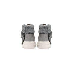 Sneakers grigie con risvolto in eco-shearling, Scarpe, 124110063MFGRIG, 003 preview