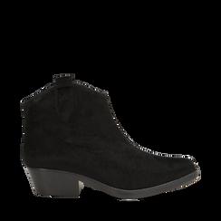 Stivaletti camperos neri in cavallino, tacco 4,5 cm, Primadonna, 12A403988CVNERO036, 001a