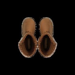 Scarponcini invernali scamosciati color cuoio, Scarpe, 125001041MFCUOI, 004 preview