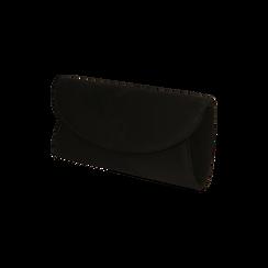 Pochette nera in microfibra , Borse, 165122502MFNEROUNI, 002 preview