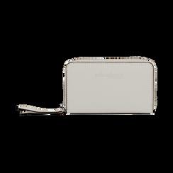 Portafoglio compatto bianco in eco-pelle, Borse, 133731344EPBIANUNI, 001 preview